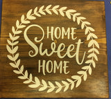 "Traditional Barn Board Sign 12 "" X 12 "" - click the drop down arrows not the pictures to choose CODE 15 $38"