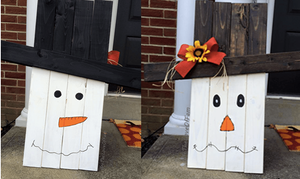 Pallet Scarecrow/Snowman Reversible  Code 15 X only!