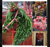 Real and Artificial Greenery Horse Wreath with Decorations Code Zero