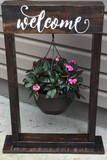 Welcome planter Stand