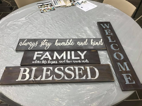 Traditional Barn Board Sign  - 8