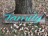 "Traditional Barn Board Sign 6"" X 30""  CODE20"