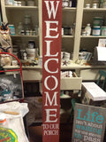 5 foot Welcome Sign - CODE15