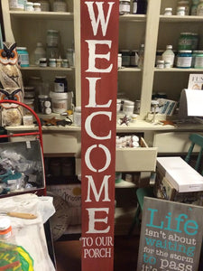 6 foot Welcome Sign - CODE15