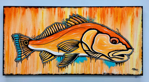 Redfish Drip • Original Canvas