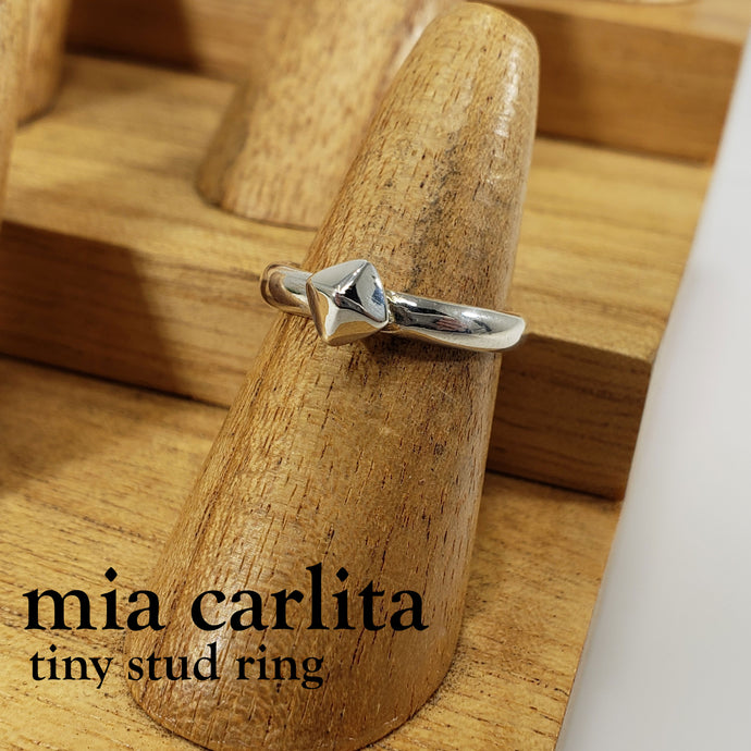 tiny stud ring