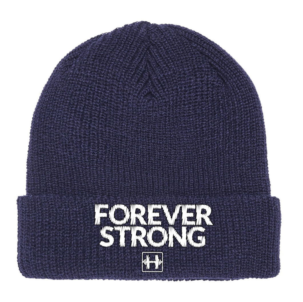 FOREVER STRONG BEANIE (NAVY)