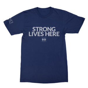 Men's Lifting T-shirt (STRONG LIVES HERE)