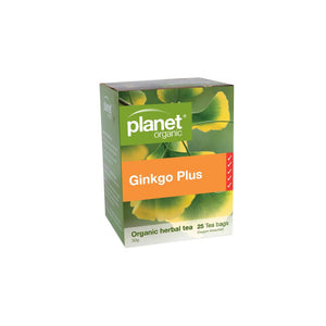 PLANET ORGANIC Herbal Tea Bags  Ginkgo Plus (With Green Tea) 25 bags 플래닛 오가닉 허브티백 은행&그린티 25백입
