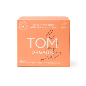 TOM ORGANIC_Panty Liners Ultra Thin Liners For Everyday 26pads 톰 오가닉 울트라 슬림 팬티 라이너 26개입