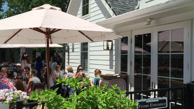 A Summer afternoon o the patio of The Cake Bake Shop