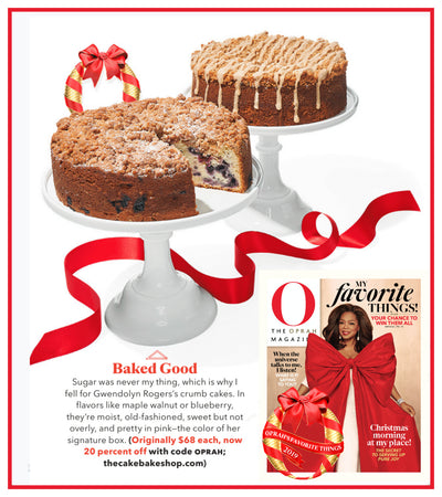 Oprah Picks Gwendolyn's Crumb Cakes For Her Favorite Things 2019!