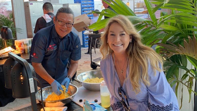 Gwendolyn with Iron Chef Morimoto.