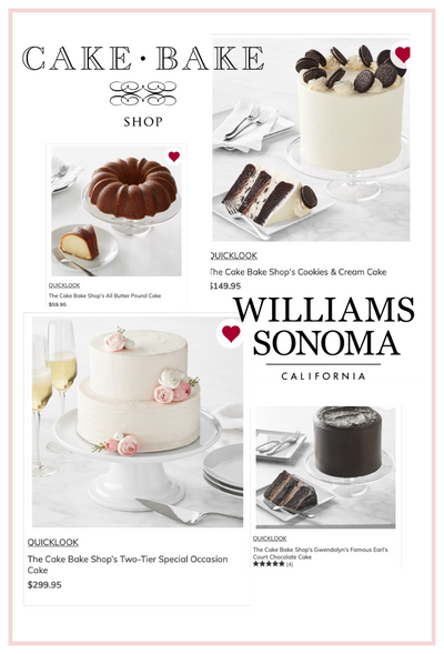 Williams-Sonoma Features Over 16 Cake Bake Shop Cakes