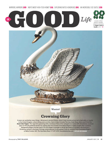 Indianapolis Monthly Swan Cake Topper