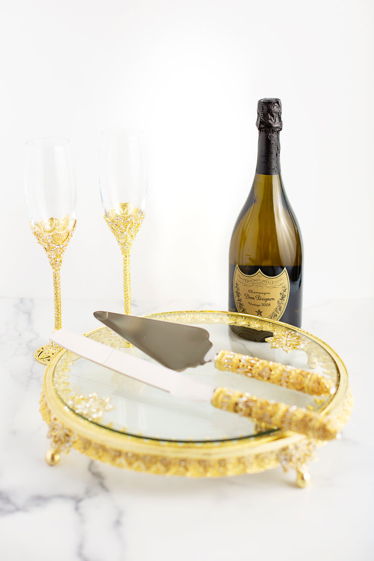 The Cake Bake Shop's Gold Wedding Serving Set