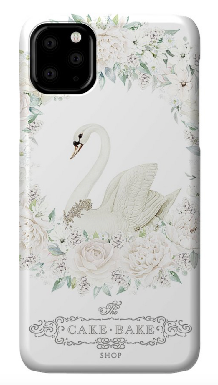 Cake Bake Shop Holiday Swan iPhone 11 Pro Max Phone Case
