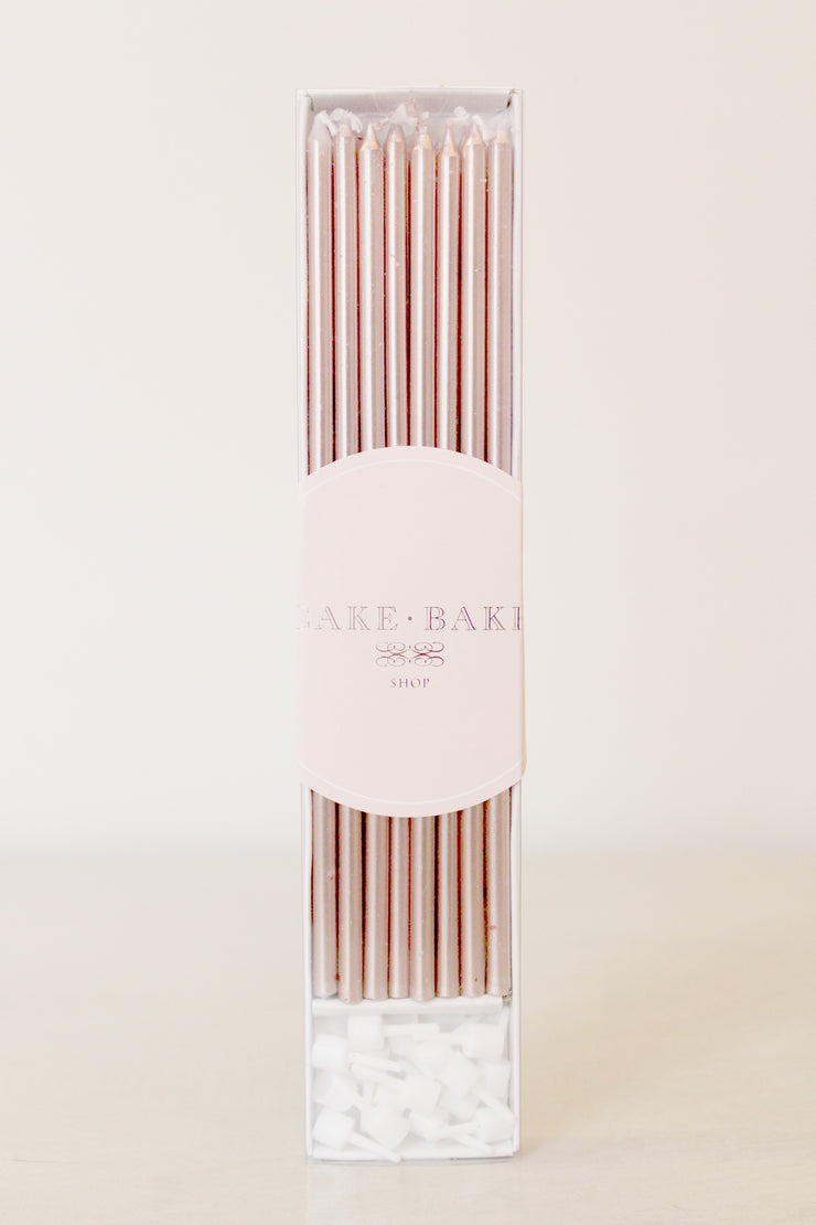 Rose Gold Foil Birthday Candles