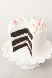 Peppermint Candy Cane Chocolate Cake