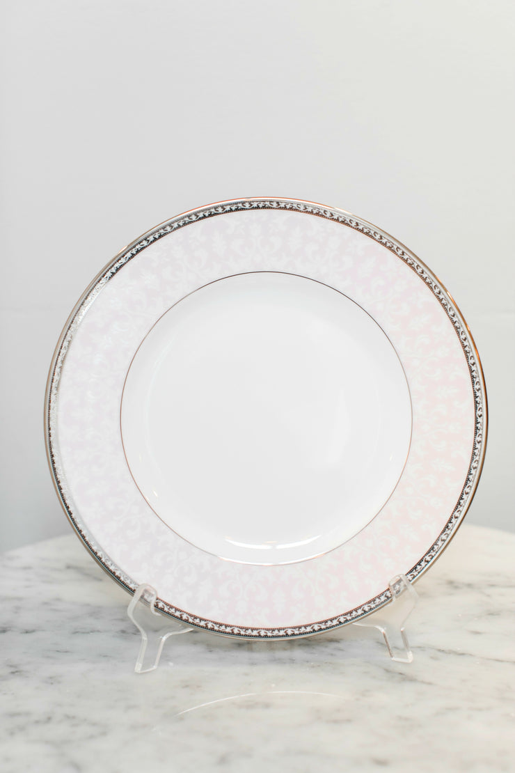 Cake Bake Shop Pink & White Patterned Dinner Plate Made By Lenox