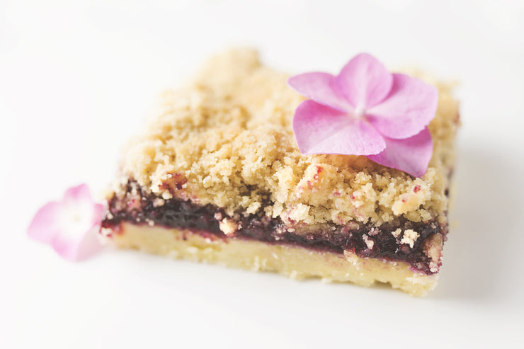 Blackberry Jam Crumble Bars