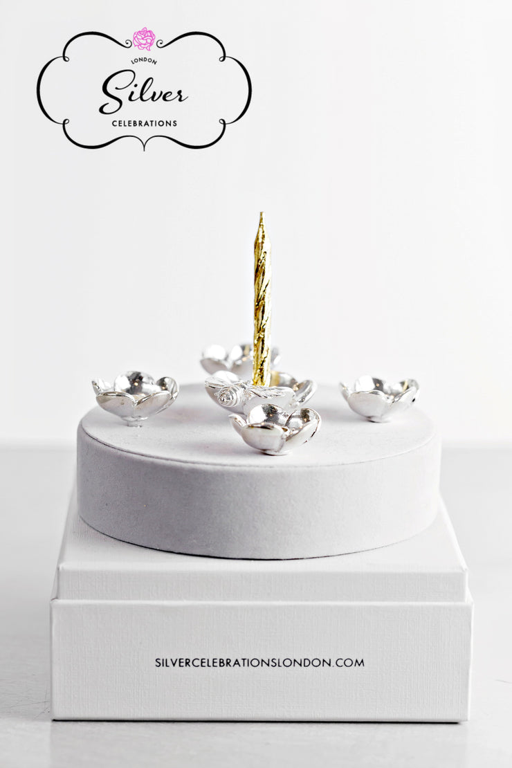 Silver Celebration Candle Holders Buttercup Collection