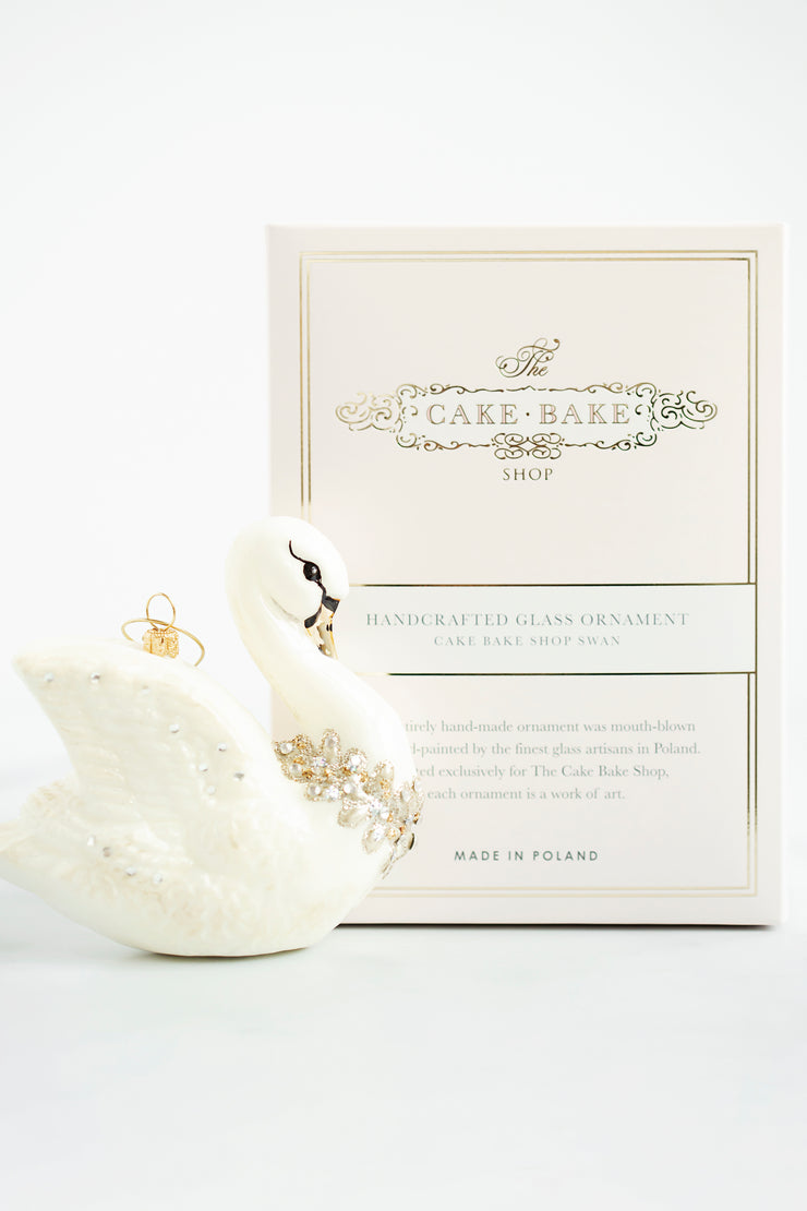 Cake Bake Shop's Swan Ornament