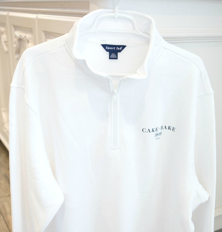 White Quarter Zip Sweatshirt