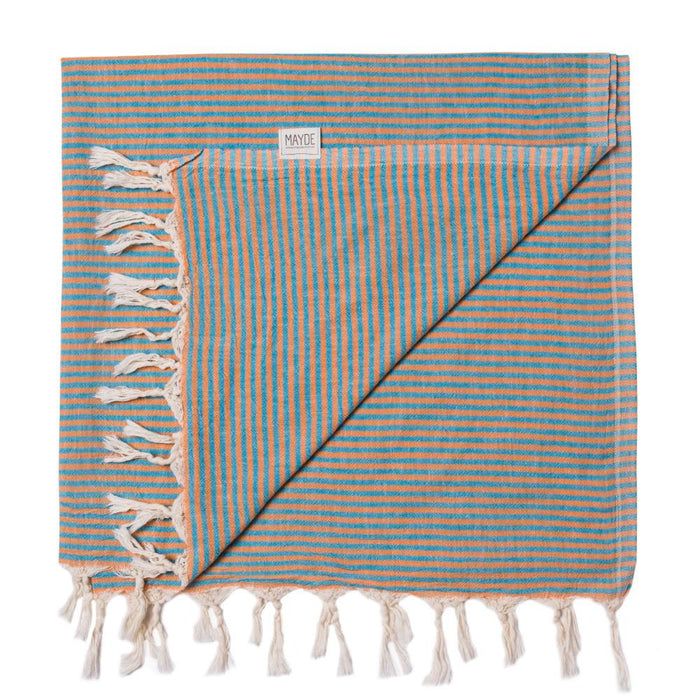NOOSA TOWEL - ORANGE / TURQUOISE