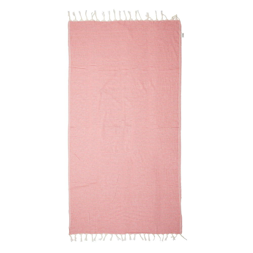 NOOSA TOWEL - RED / PINK