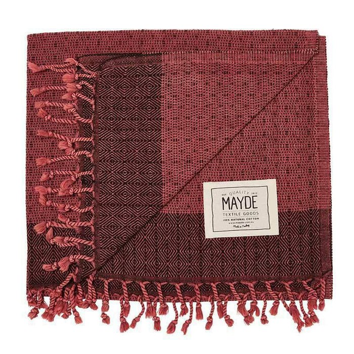 TREACHERY TOWEL - BURGUNDY