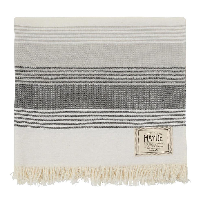 JERVIS TOWEL - WHITE & BLACK