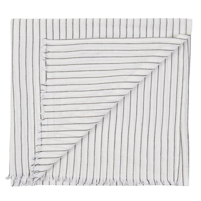 BALMAIN TOWEL - WHITE/BLACK
