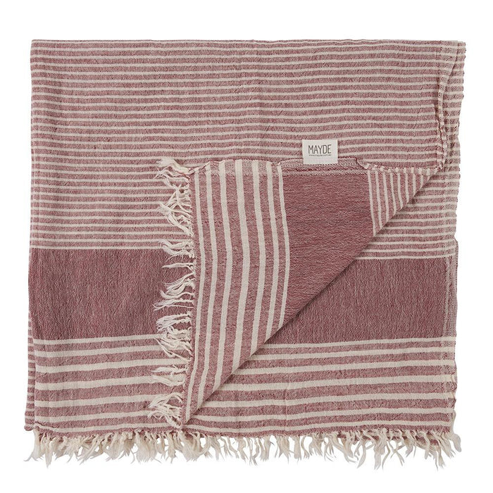 NEW FARM TOWEL - BURGUNDY