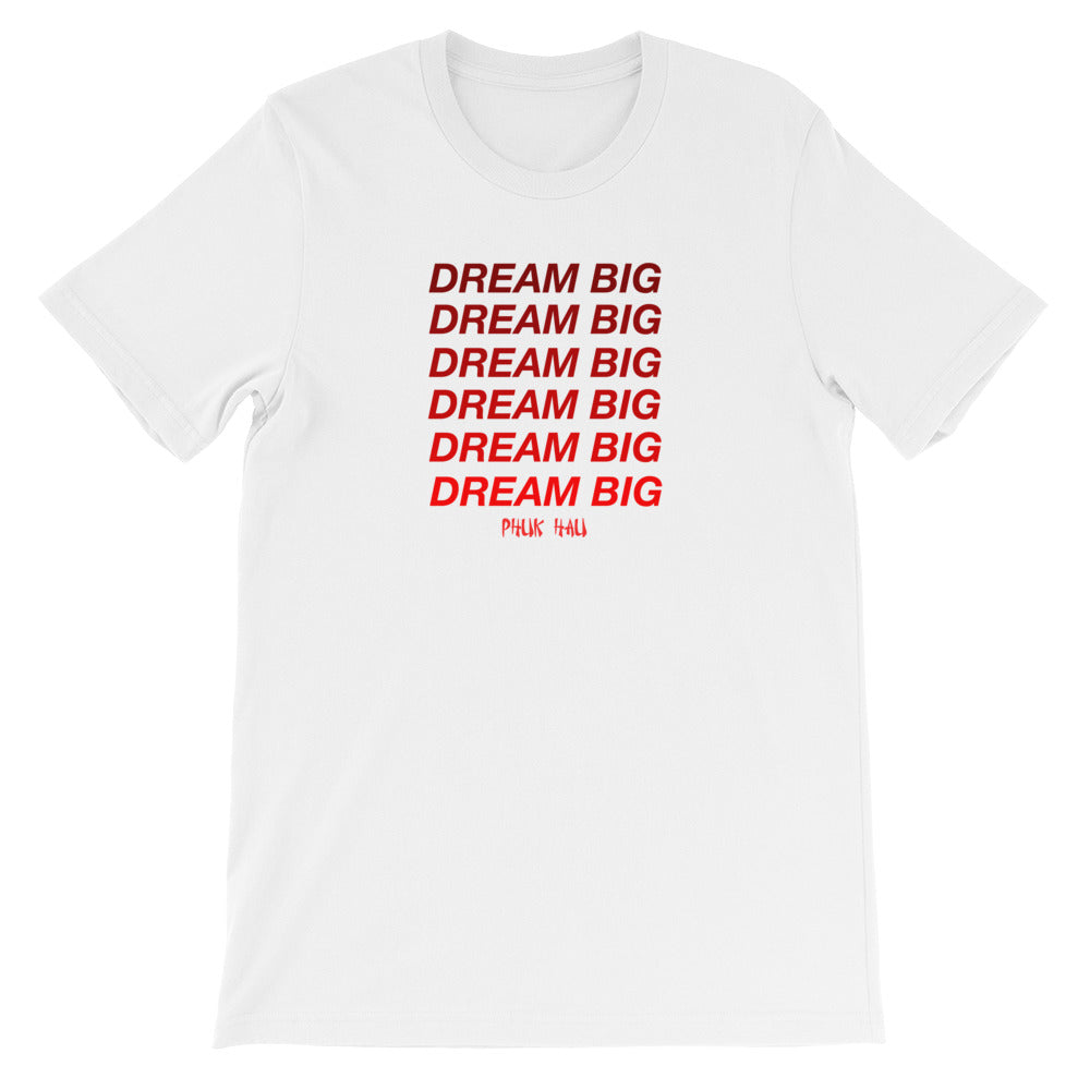 Dream Big Red Fade T-Shirt (Unisex)