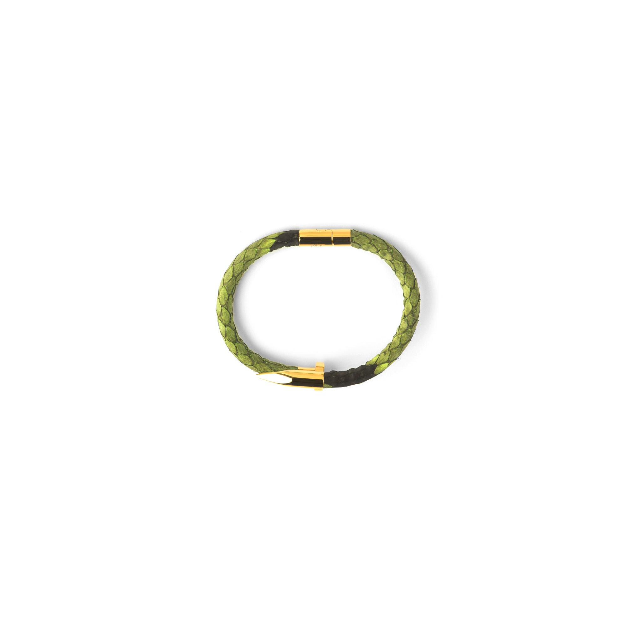 narrow spring bracelet chimento brand gold yellow stretch