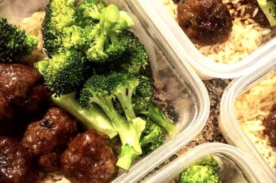 Easy Meatballs with Broccoli.