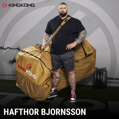 The World's Strongest Man, Hafþór Júlíus Björnsson, Has Finally Met His Match; At Least When it Comes to His Gym Bag.
