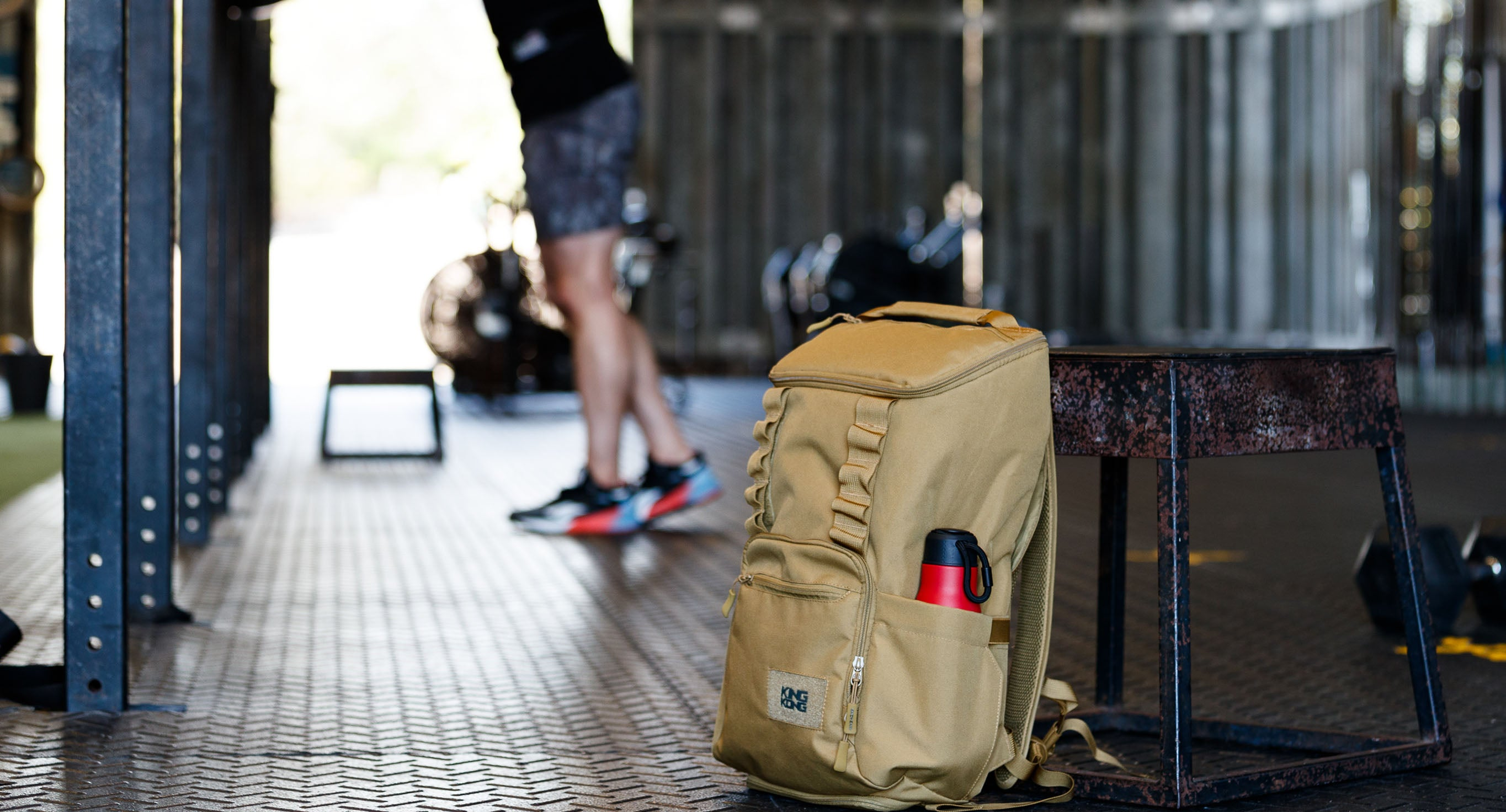 Gym Backpack with drink bottle holders