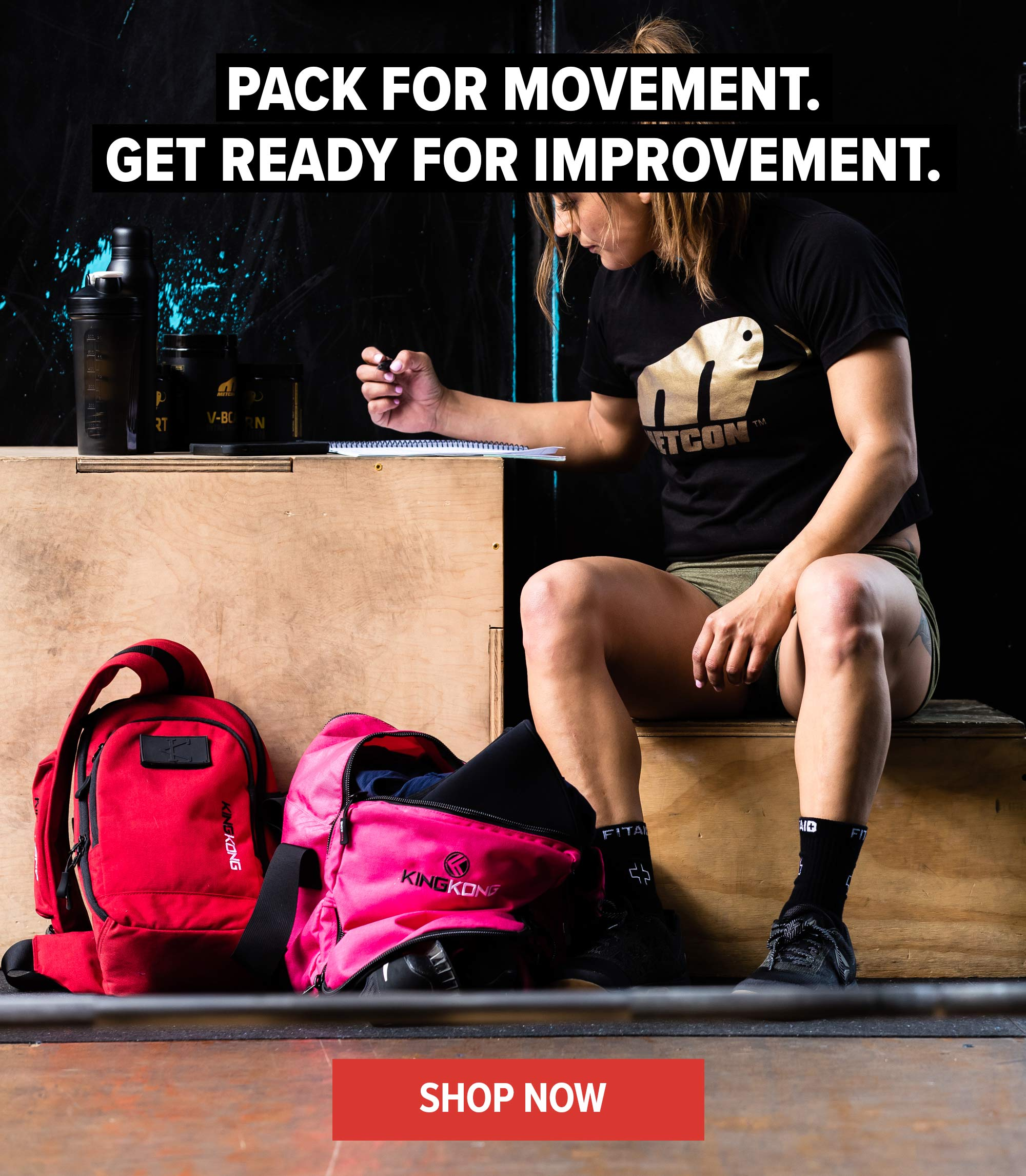 Pack for movement. Get ready for improvement.