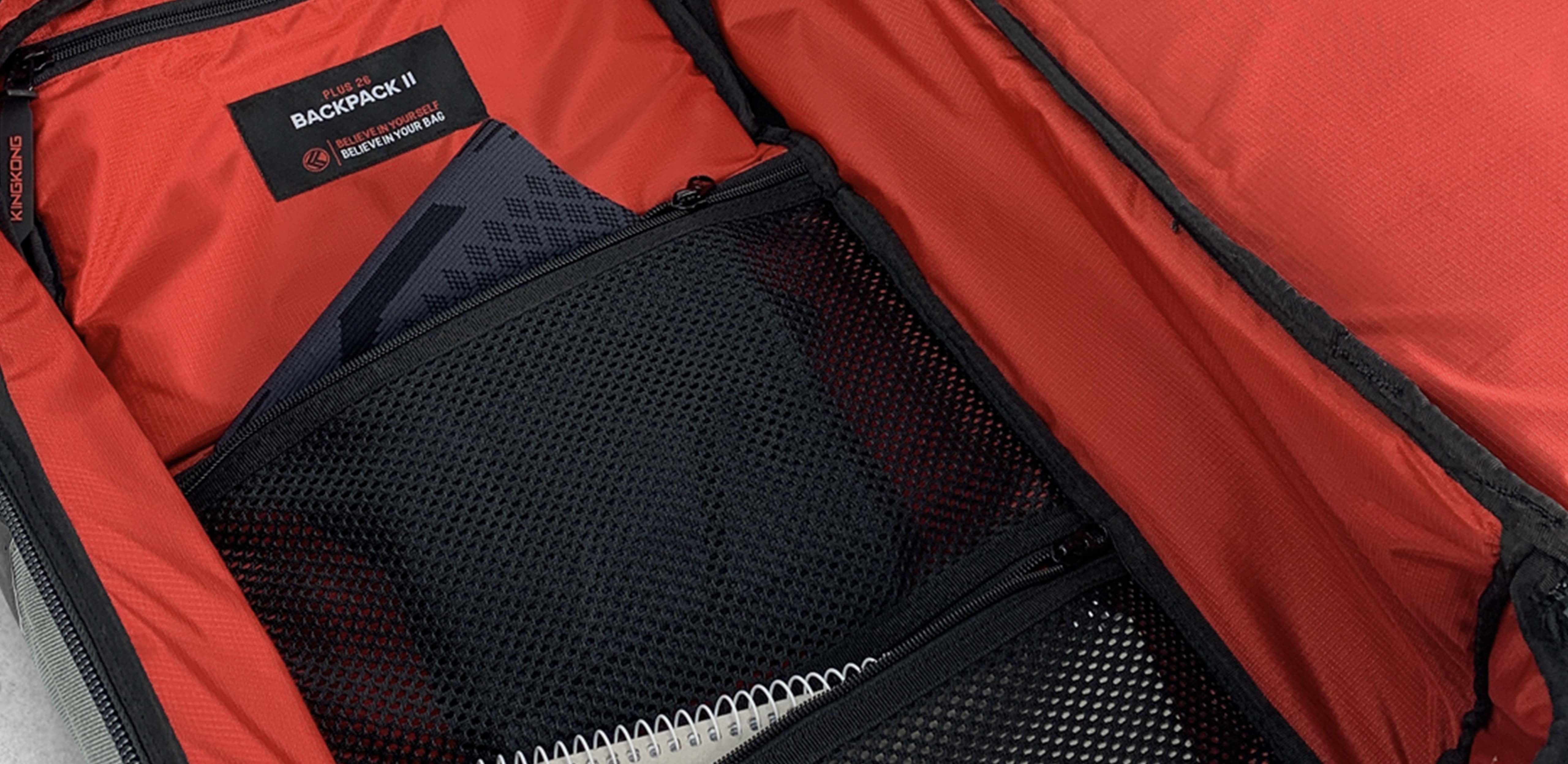 Clamshell style opening on the backpack for easy packing