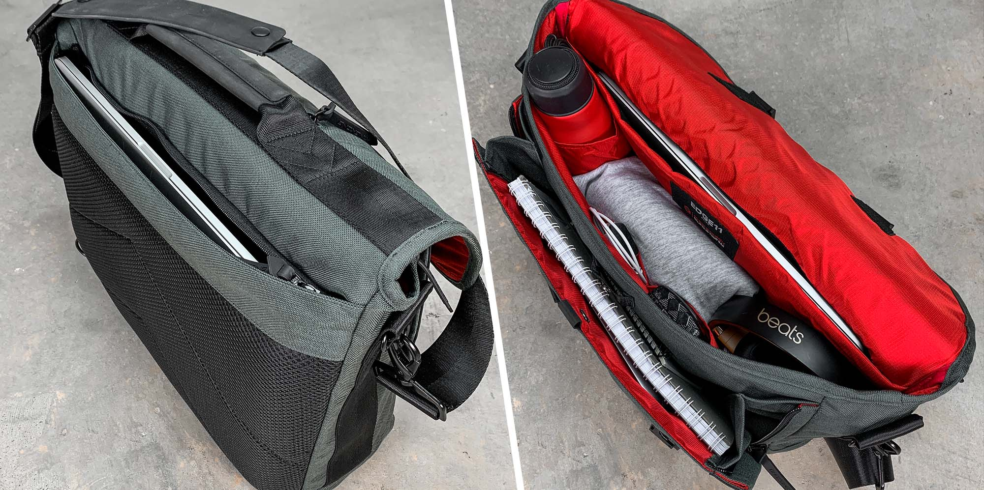 Laptop bag for gym and work