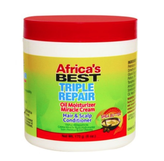 Africa's Best Triple Repair Oil Moisturizer Miracle Cream Hair & Scalp Conditioner