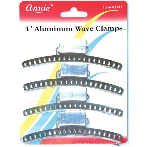 "Annie 4"" Aluminum Wave Clamps 4-Pack"