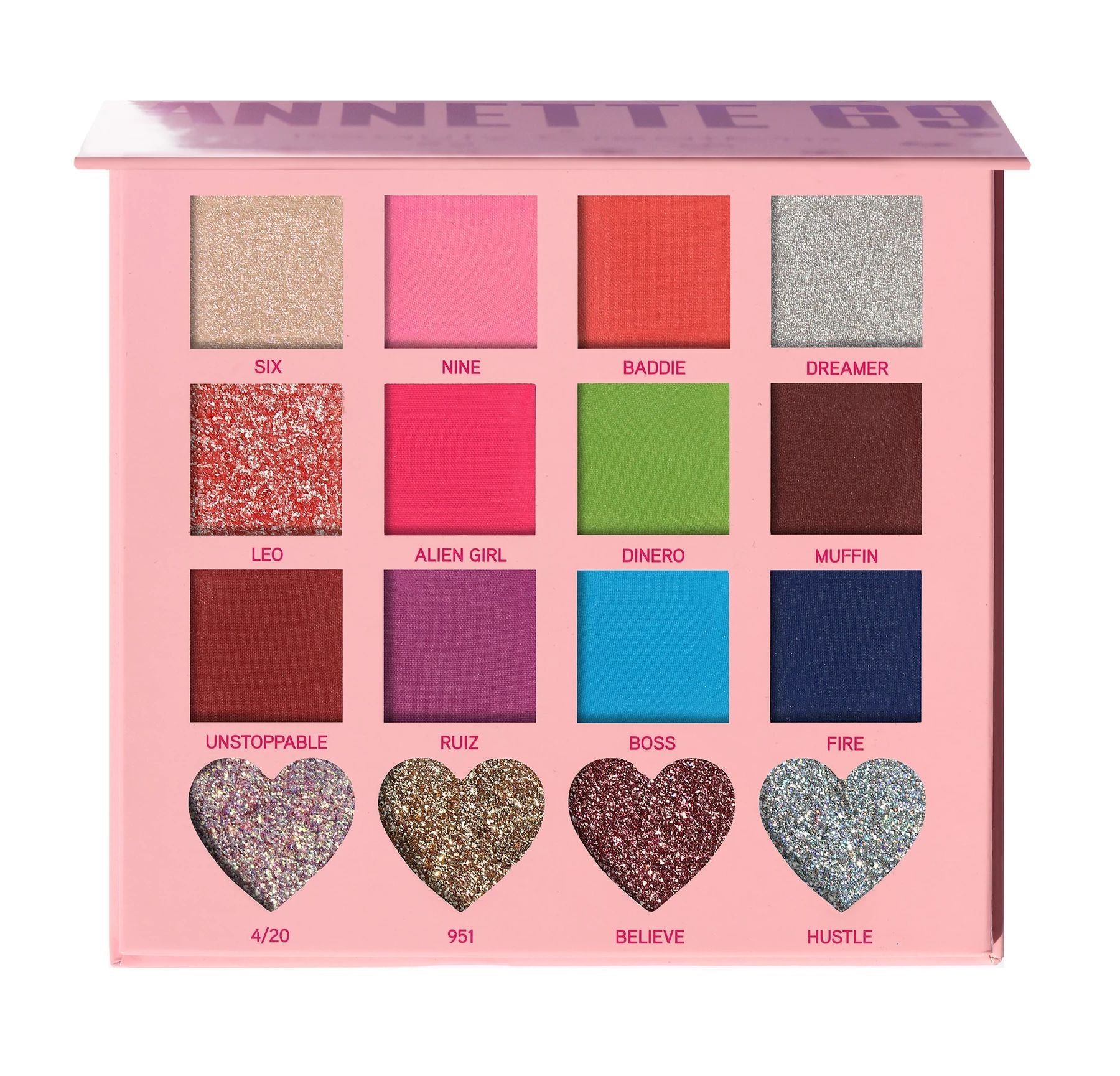 Annette69 x Beauty Creations Eyeshadow & Face Glitter Palette