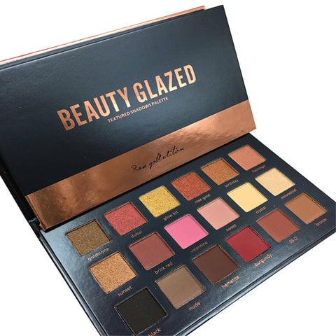 Beauty Glazed Textured Shadows  Eyeshadow Palette (Rose Gold Edition)
