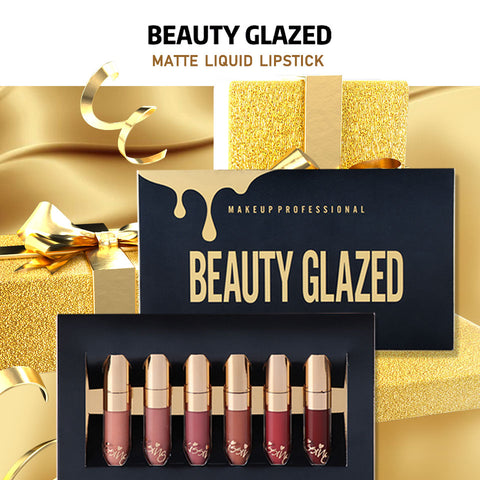 Beauty Glazed 6-Piece Matte Birthday Lip Gloss / Liquid Lipstick Set