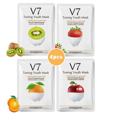BioAqua V7 Seven Vitamins Deep Hydration Fruit Face Masks