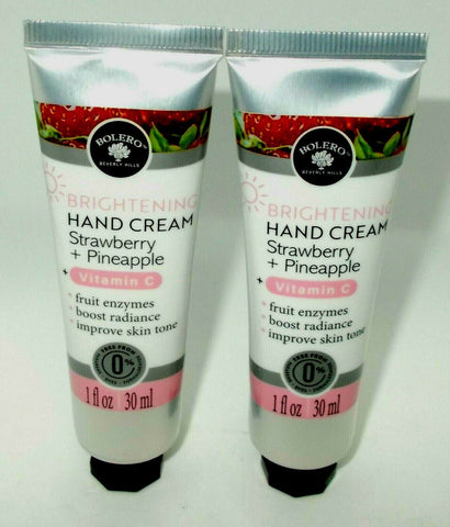Bolero Beverly Hills Brightening Vitamin C Hand Cream 2-Pack (Strawberry + Pineapple)