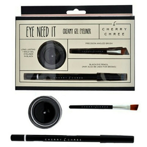 Cherry Chree Creamy Gel Eyeliner Kit Black